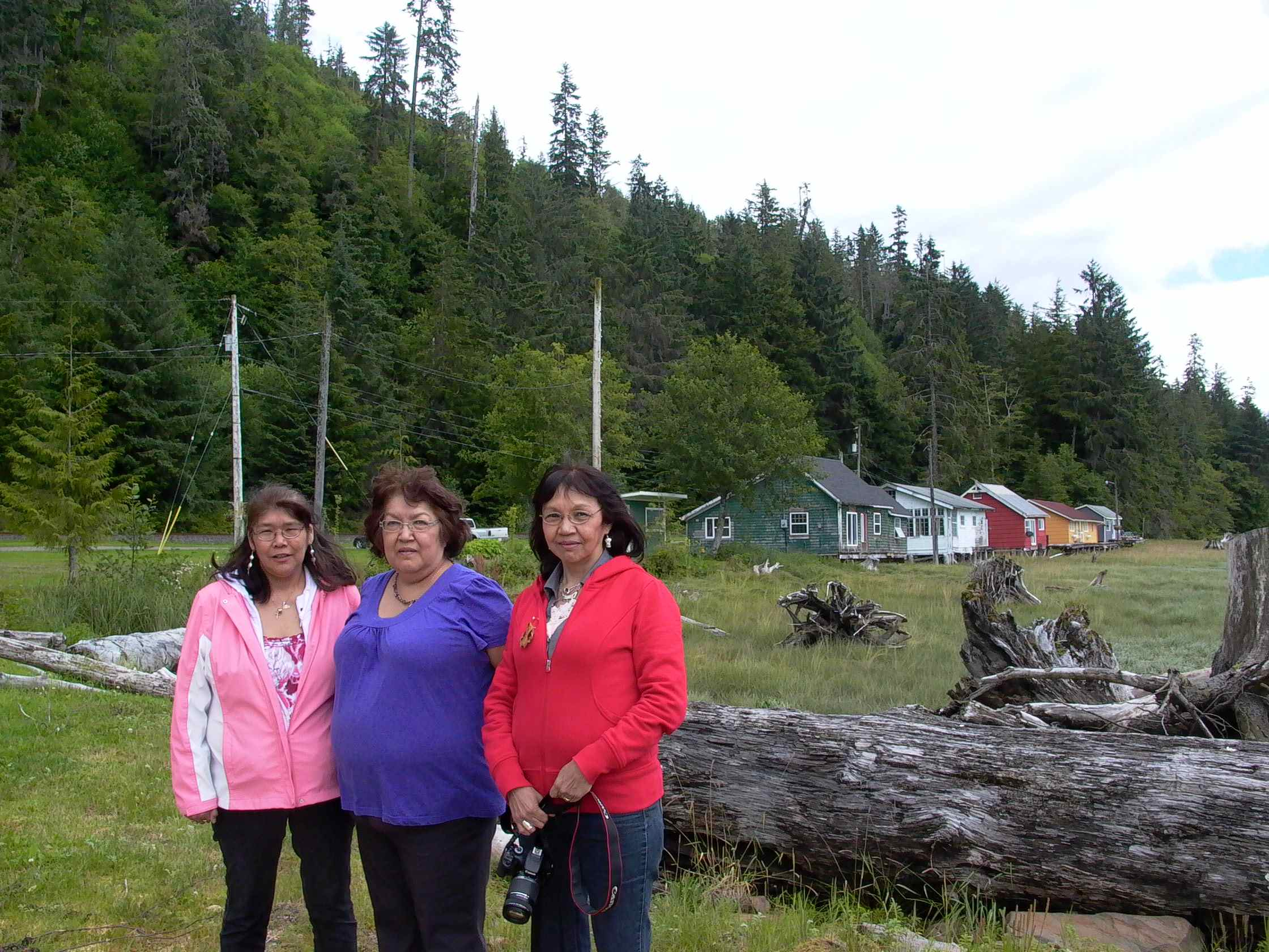 Cassiar Community: Karen, Trudy and Kathy Bright (Prince Rupert, Terrace, Prince George).  This trio of lovely ladies lived at Cassiar year round from 1960 through 1978.  Their mother was a netwoman and their father a fisherman on Cassiar 7(?).  All three sisters started working in the cannery at 14 on all sorts of jobs.  We are looking forward to their return for more stories.