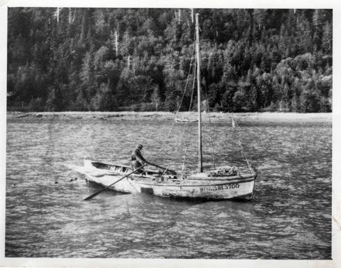 Cassiar Community: Cecelia Innes- her great-grandfather Isleifur Helgason 1946 Skeena River