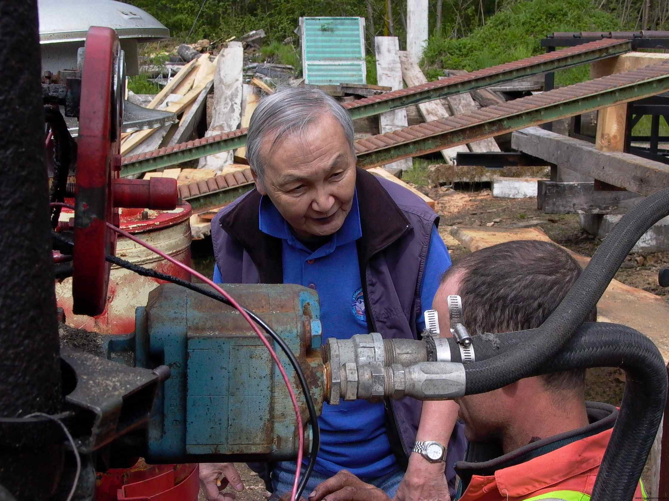 Cassiar Community: George Yamamoto (Prince Rupert) 27 years of keeping Cassiar functioning is back at work at Cassiar in May 2011 sharing his considerable expertise with the younger generations.