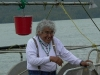 Cassiar Community: Frank Benson (Kitwancool) - fisherman - arrived at Cassiar Cannery when he was 7 during the 1940s.  Frankie has the best jewellery and the biggest smile on the Skeena.  Photo taken during the Spring opening on the Skeena in 2010.