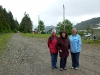 Cassiar Community: Gladys Blyth with her daughters Janet and Anne at Cassiar June 2010