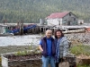 Cassiar Community: George Yamamoto (Prince Rupert) and his niece Chris Toba (Vancouver) visit Cassiar Cannery May 2011.  Chris Toba worked at Cassiar cleaning fish during the summer of 1976