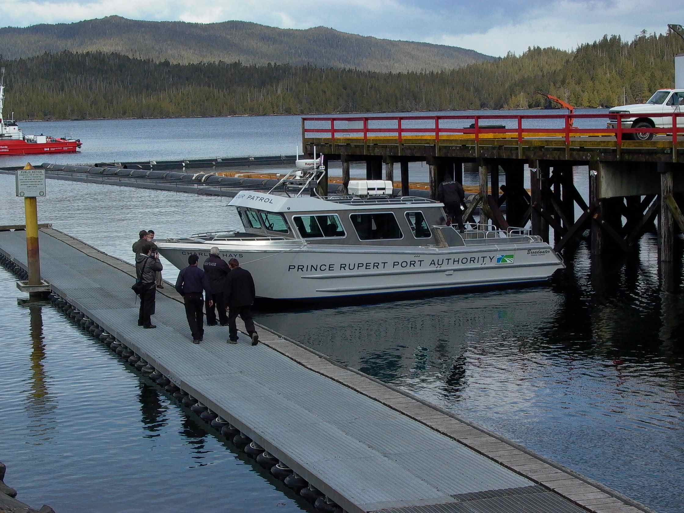 Cassiar Cannery - Poseidon Marine - Charles Hays - broadside at the launch