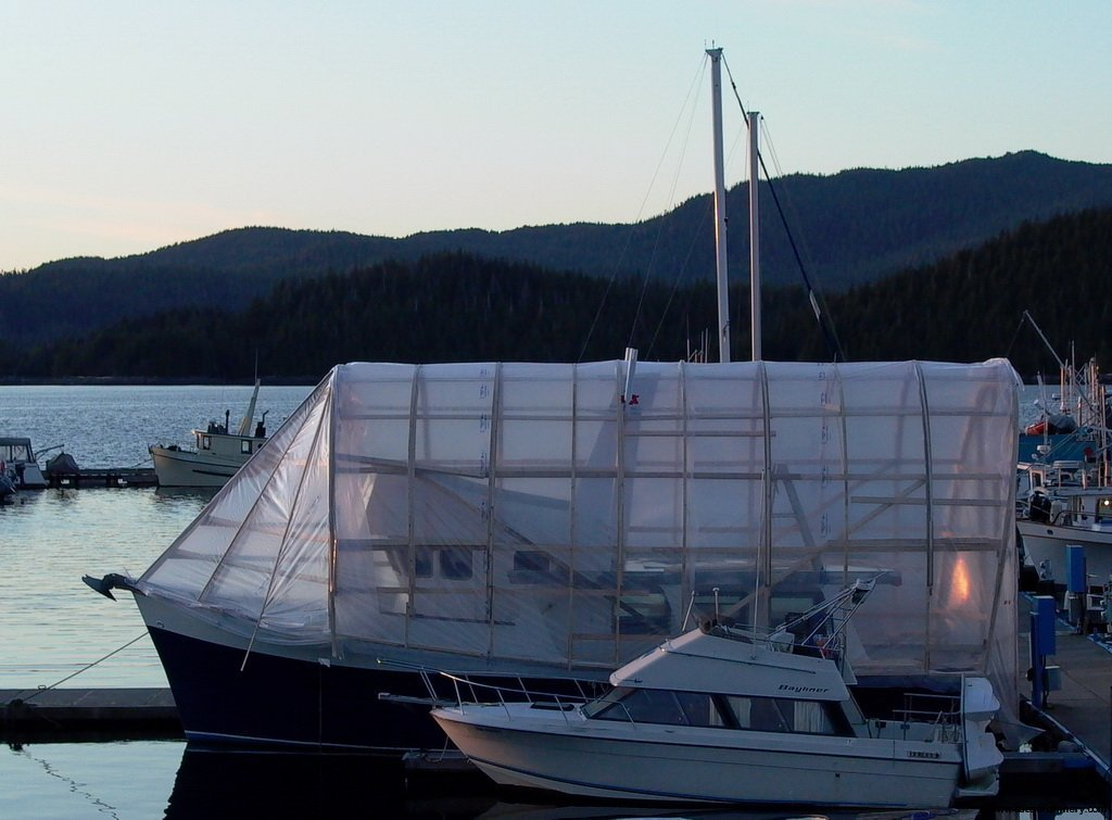 Poseidon Marine - Charlie M - boat bubble for weather protection