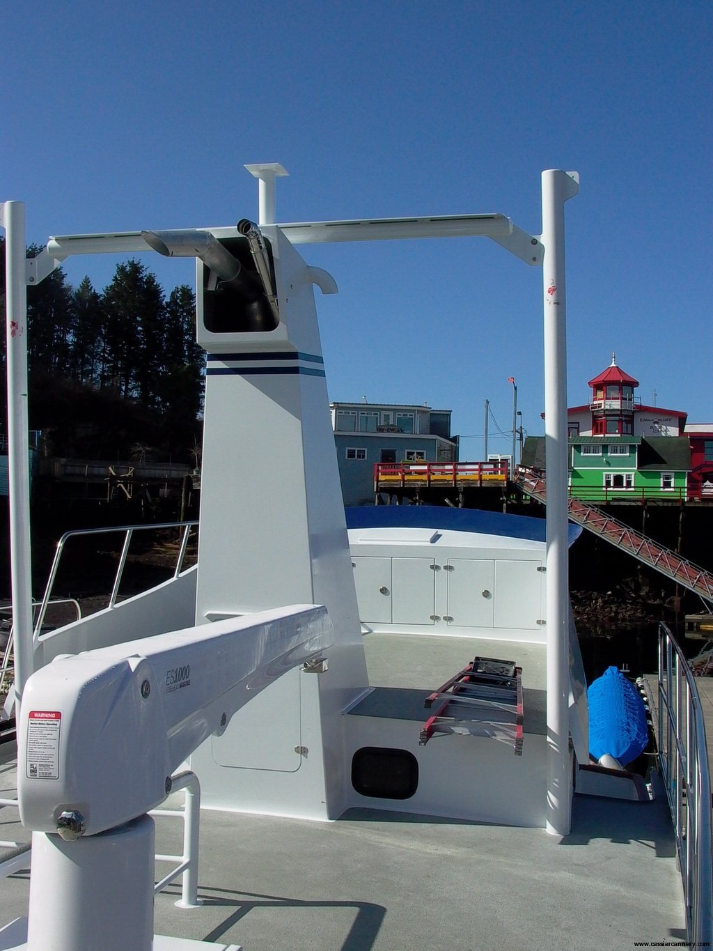 Poseidon Marine - Charlie M - upper deck after the boat bubble was removed