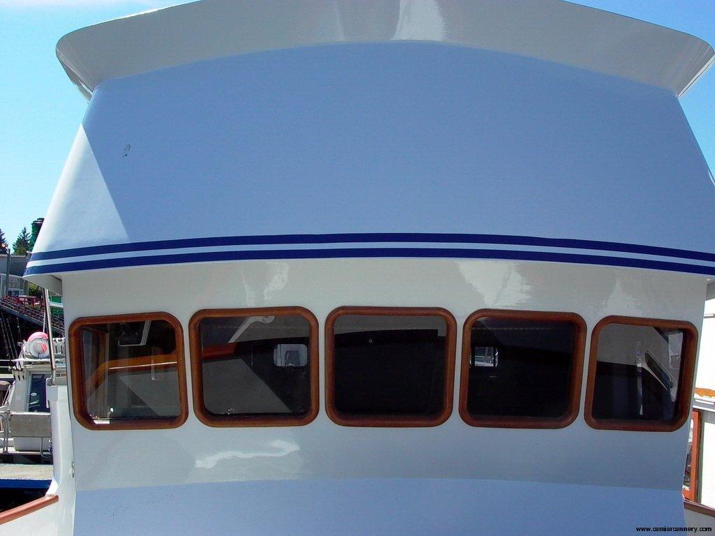 Poseidon Marine - Charlie M - new paint on the exterior of the wheelhouse