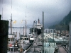 Cassiar Cannery - Doug Lait - 1975 - lots of fishboats rafted to the net floats - NP side