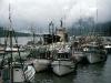 Cassiar Cannery - Doug Lait - 1975 - boats rafted to the net racks - NP side