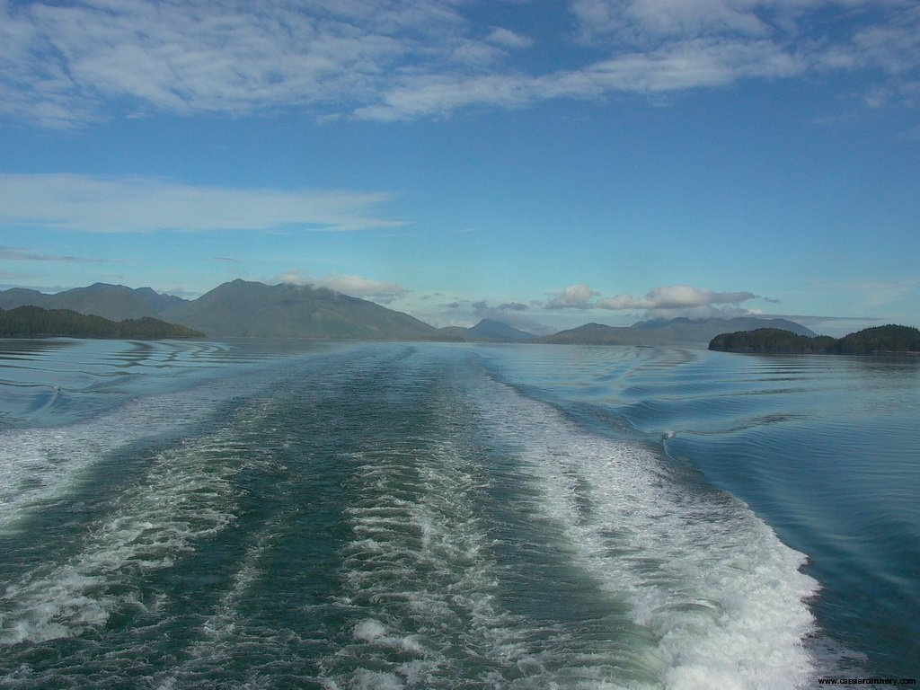 Cassiar Cannery - view off the back of BC Ferries - a beautifully scenic voyage