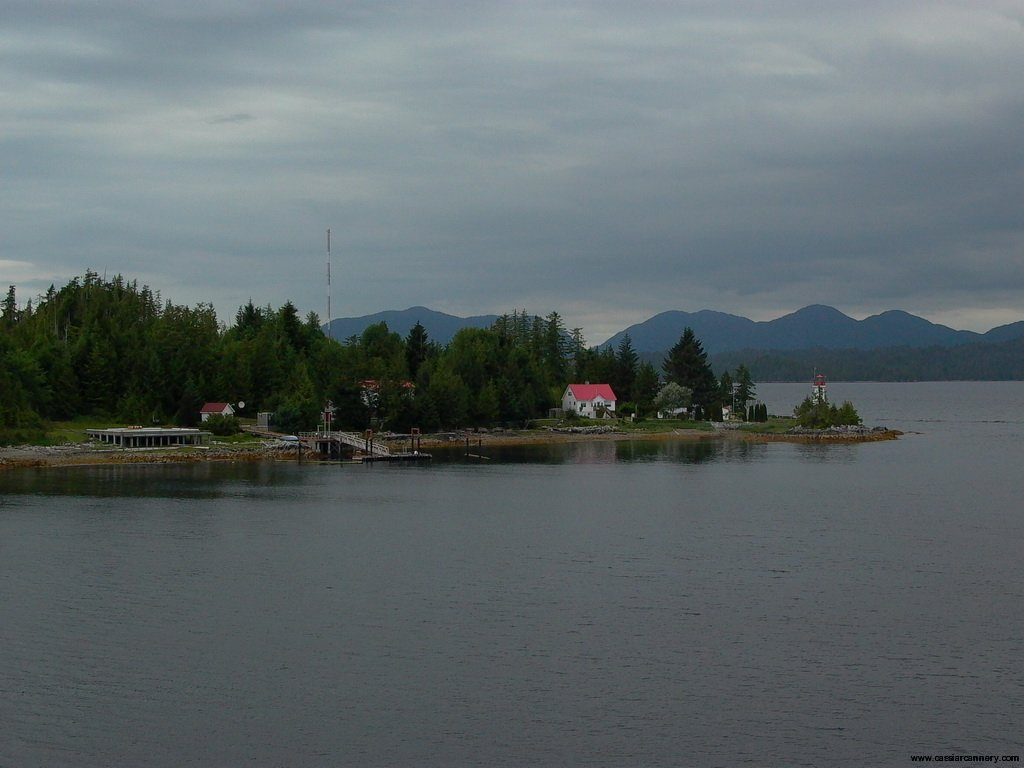 Cassiar Cannery - coastal lighthouse from BC Ferries route between Prince Rupert and Port Hardy