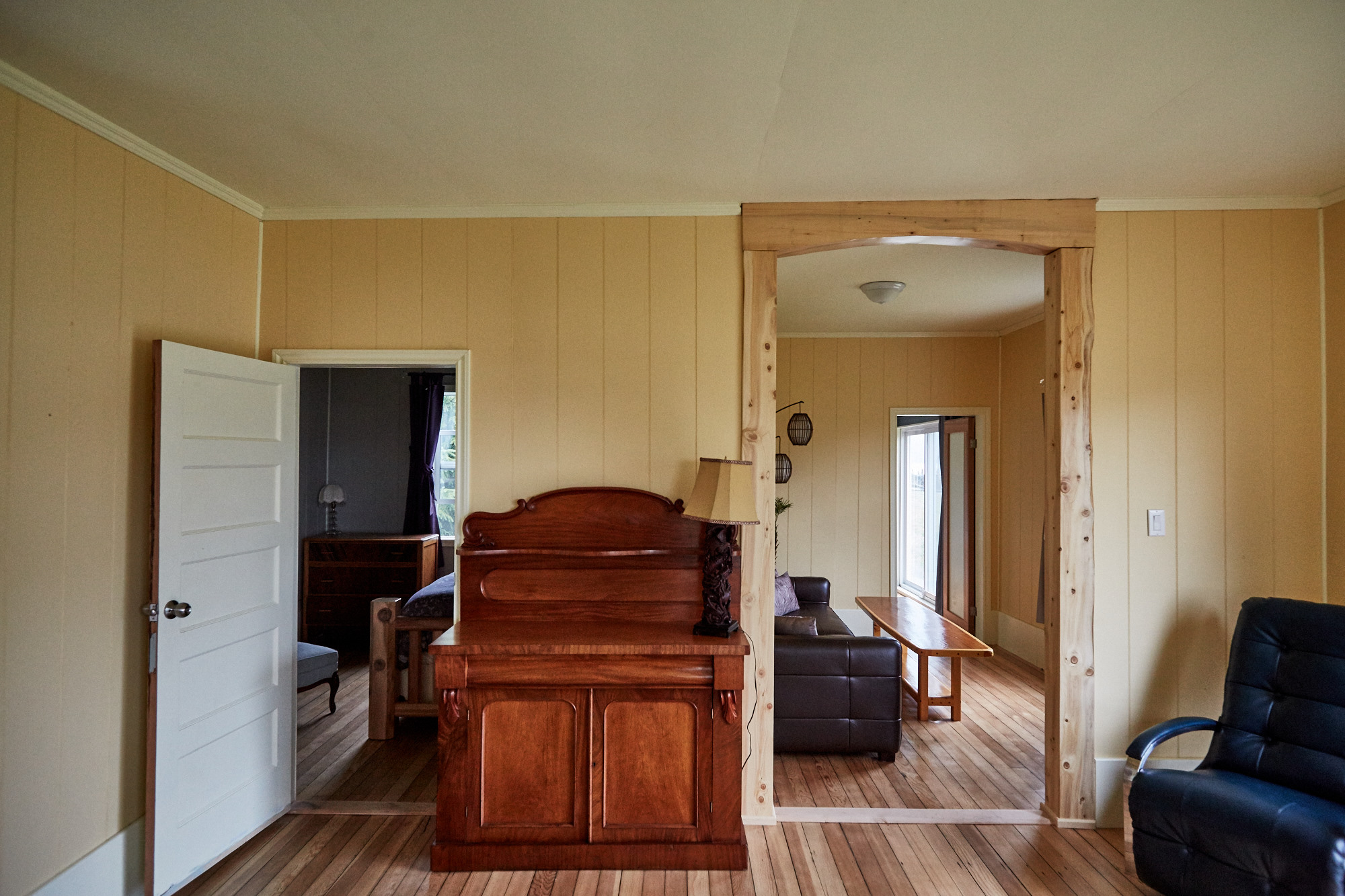 Cassiar Cannery - Halibut House-sideboard and doorways