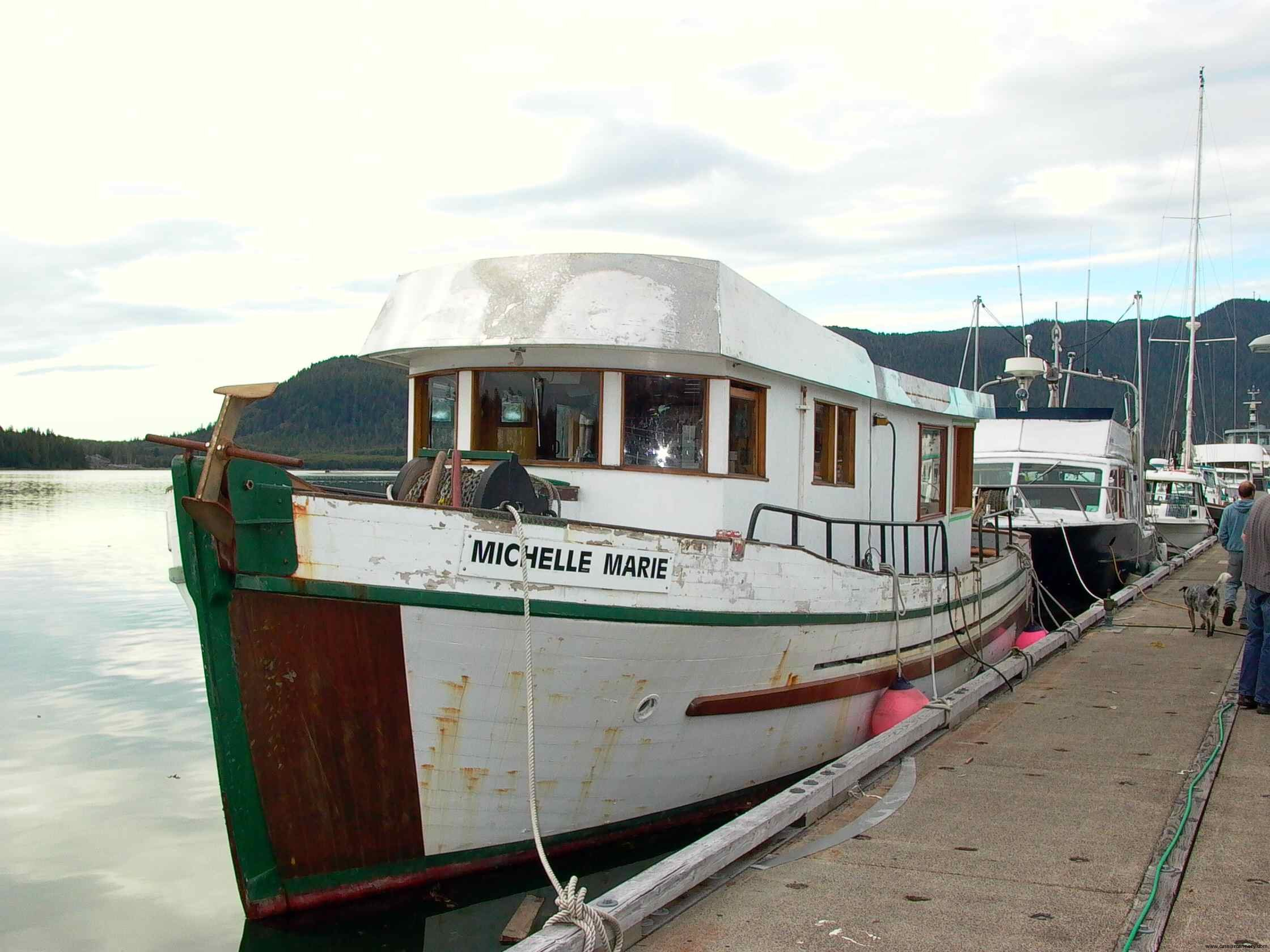 Cassiar Cannery - Poseidon Marine - Michelle Marie - front view of the extension