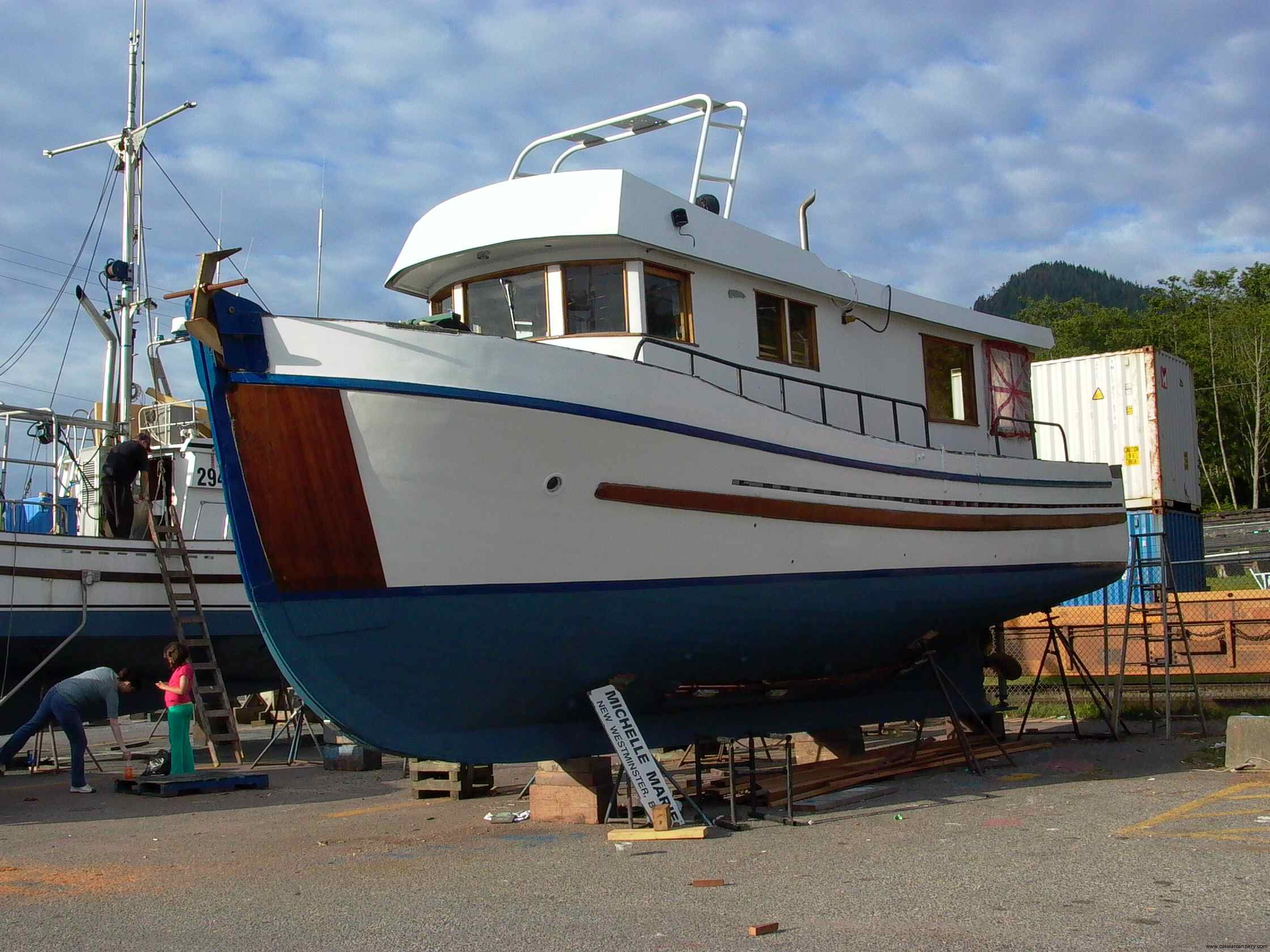Cassiar Cannery - Poseidon Marine - Michelle Marie - freshly painted