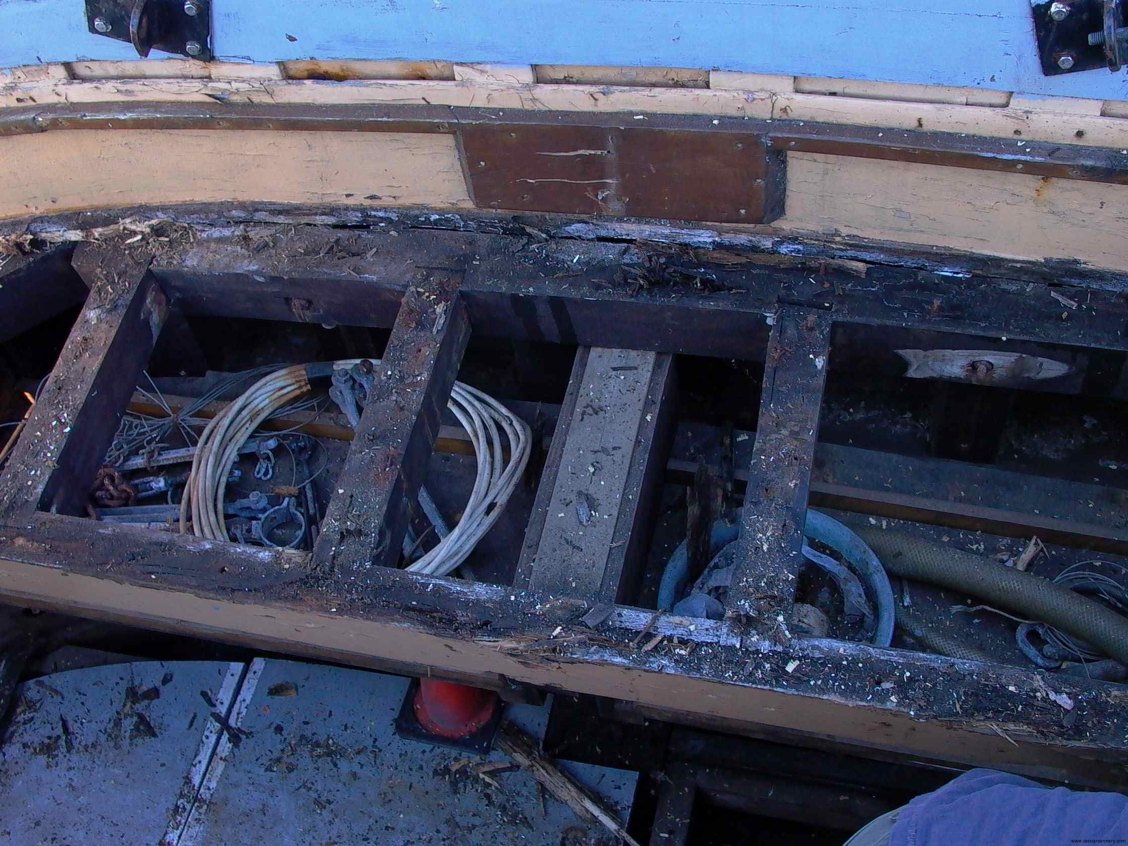 Cassiar Cannery - Poseidon Marine - Michelle Marie - removal of stern decking