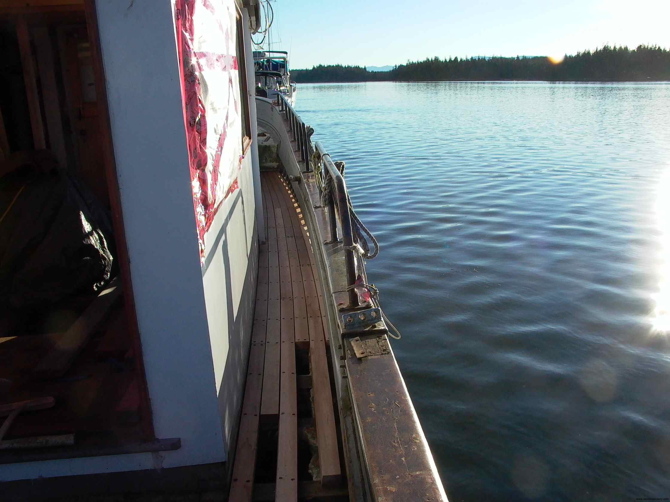 Cassiar Cannery - Poseidon Marine - Michelle Marie - new traditional style clear old growth, edge grain, red cedar decking