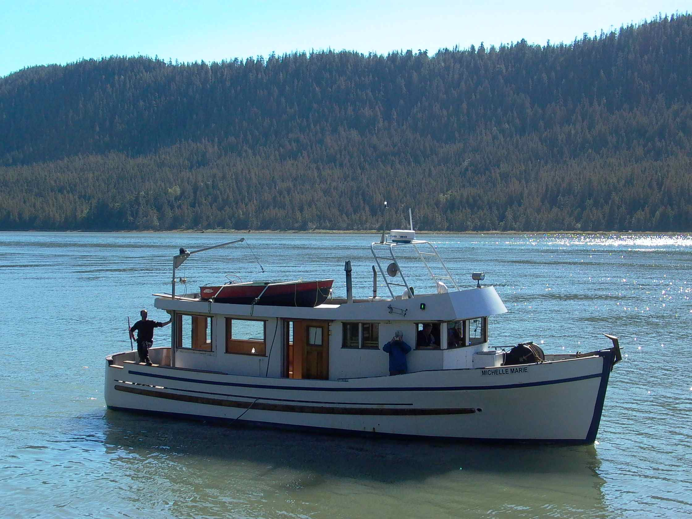 Cassiar Cannery - Poseidon Marine - Michelle Marie - sea trial part way through the restoration