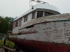 Cassiar Cannery - Poseidon Marine - Michelle Marie - prepping the hull for new painting