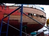 Cassiar Cannery - Poseidon Marine - Norgate. Two talented shipwrights repaired this boat in the middle of the biggest storm to hit the North Coast in years.