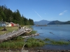 Cassiar Cannery - iconic houses looking towards the Skeena River