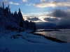 Cassiar Cannery - snowy morning on Inverness Passage