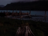 Cassiar Cannery - twilight over the scows