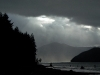 Cassiar Cannery - colour photo of the stunning storm scenery at the mouth of the Skeena