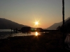 Cassiar Cannery - sun over Cassiar docks