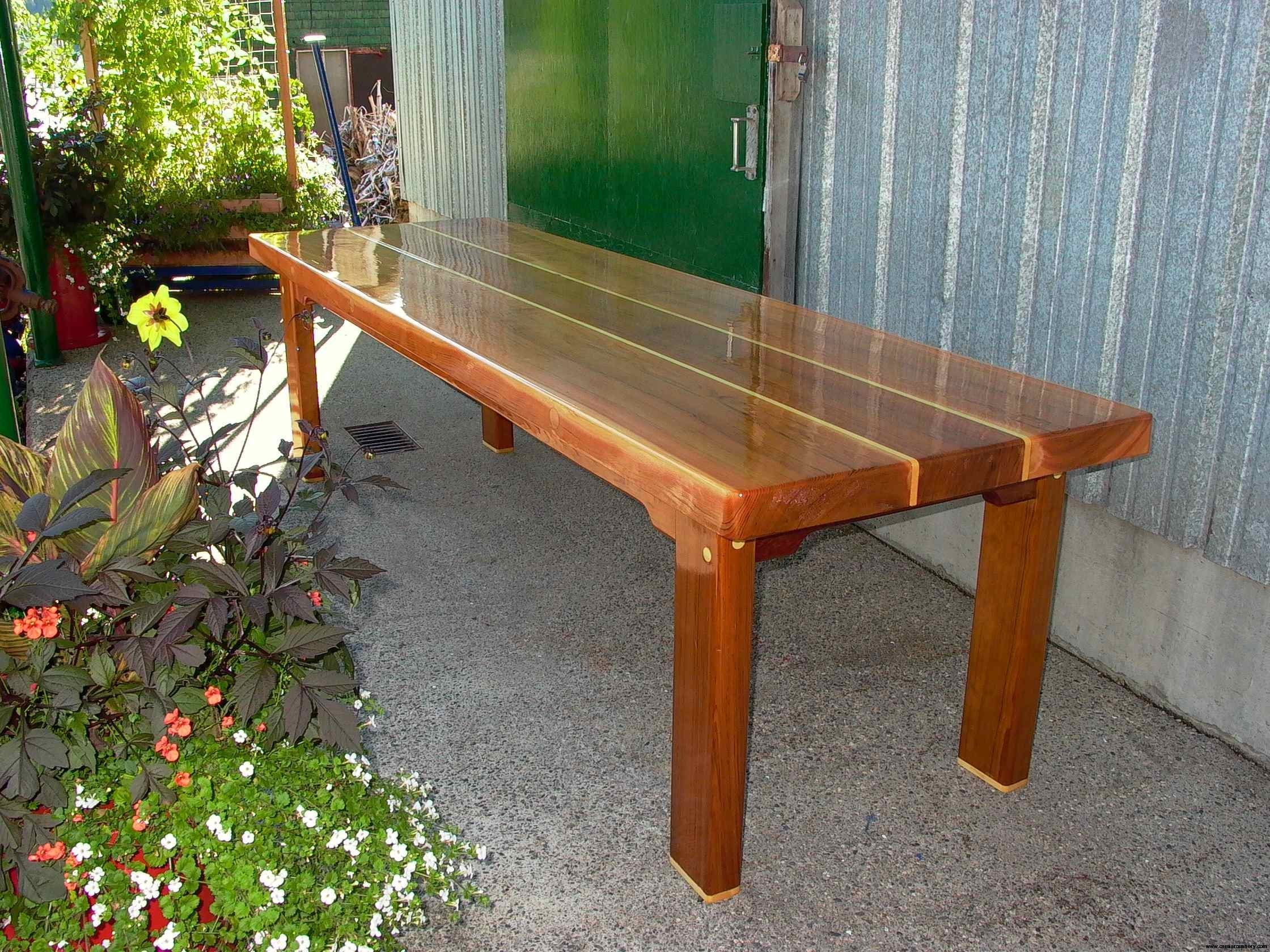 Cassiar Cannery: reclaimed red and yellow cedar table as a finished product for sale