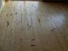 Cassiar Cannery: yellow cedar turned into beautiful wide plank flooring for our cabin restorations