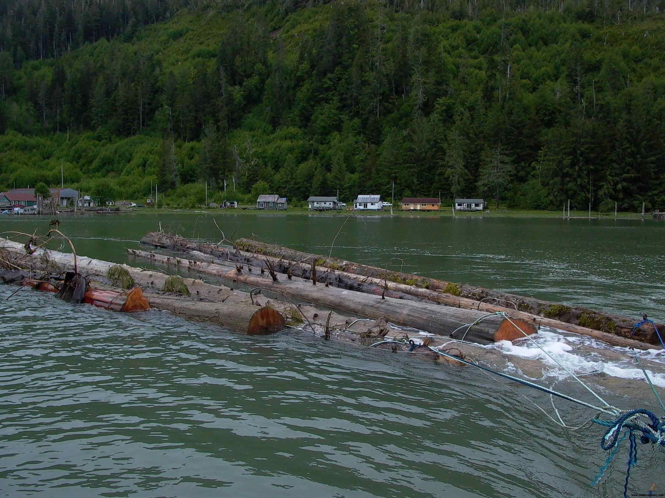 Cassiar Cannery: our second tow
