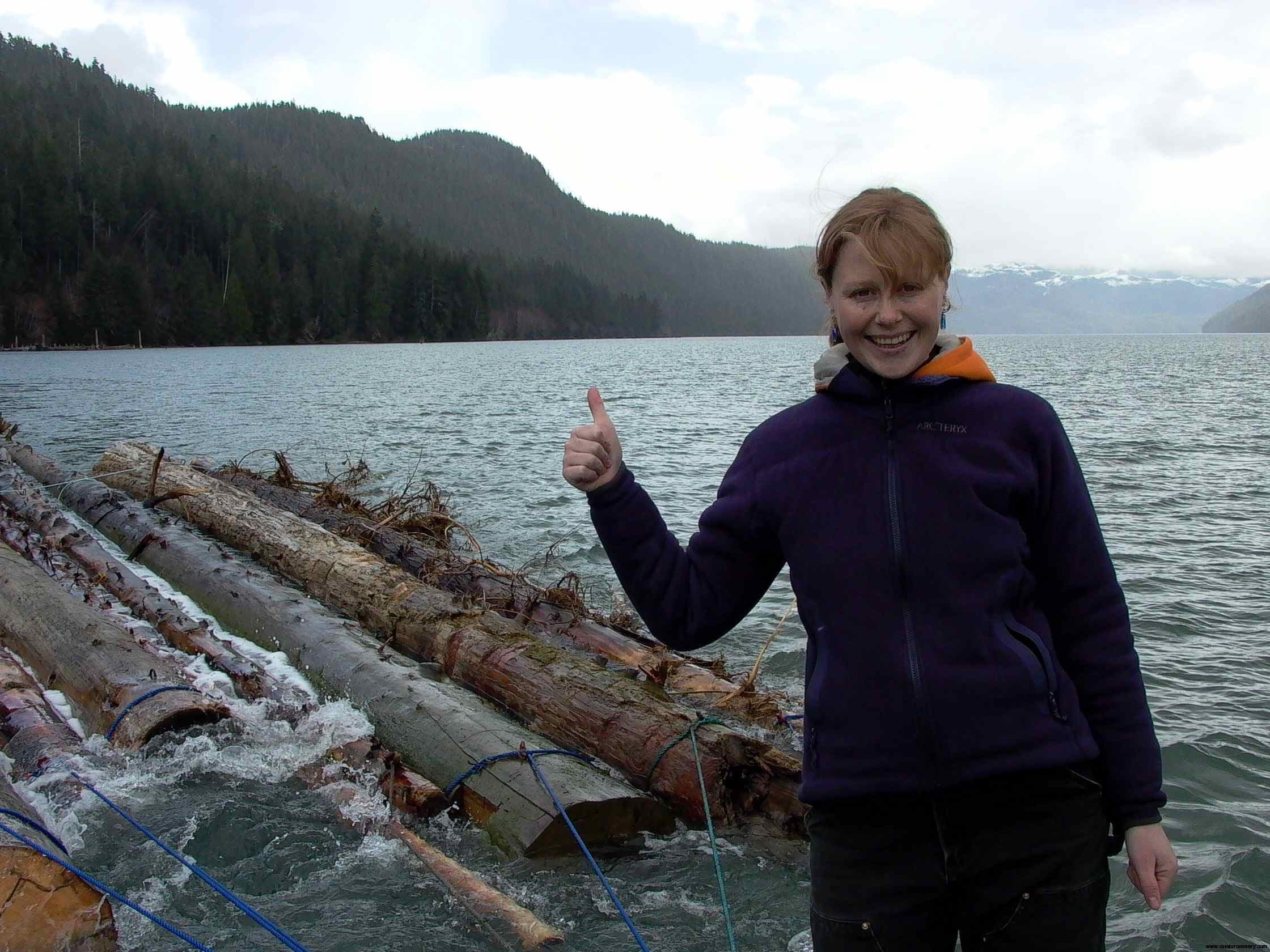 Cassiar Cannery: towing to the local mill