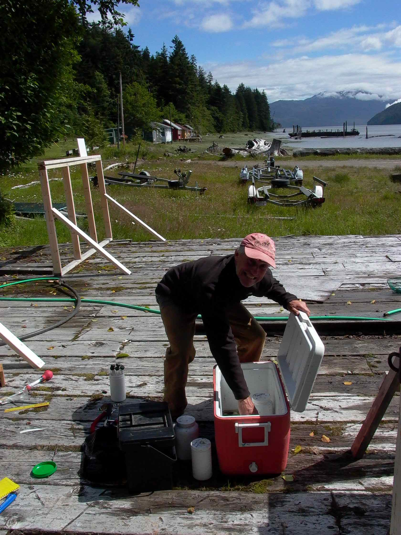 Cassiar Cannery - SERC - MB - JK - 2011/2012 - setting up the samples