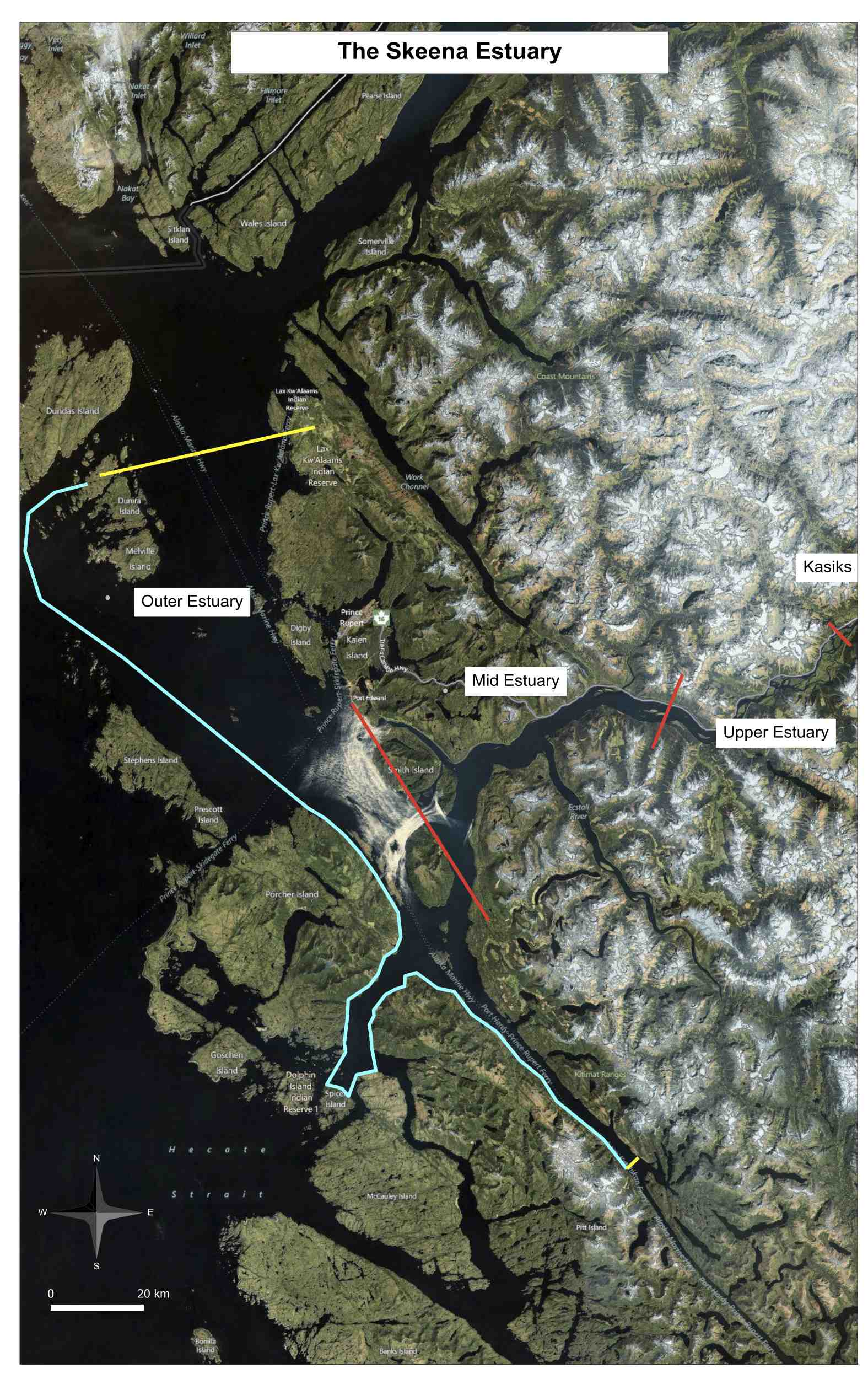 Cassiar Cannery - SERC - Overview of the Skeena Estuary Delineation