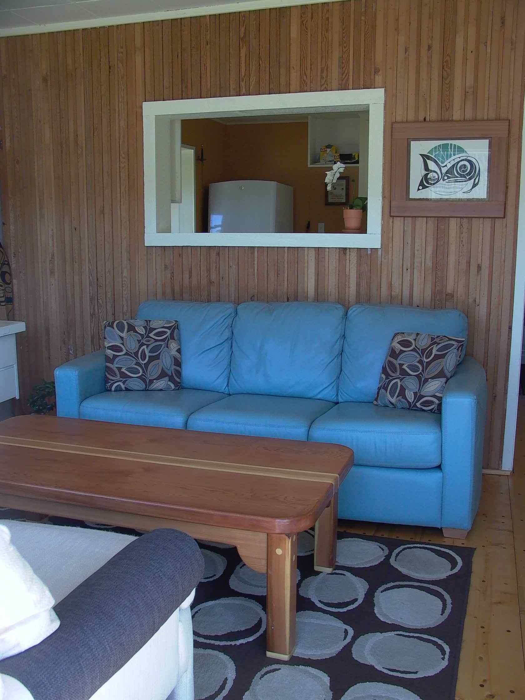 Cassiar Cannery - Sockeye House - living room kitchen side