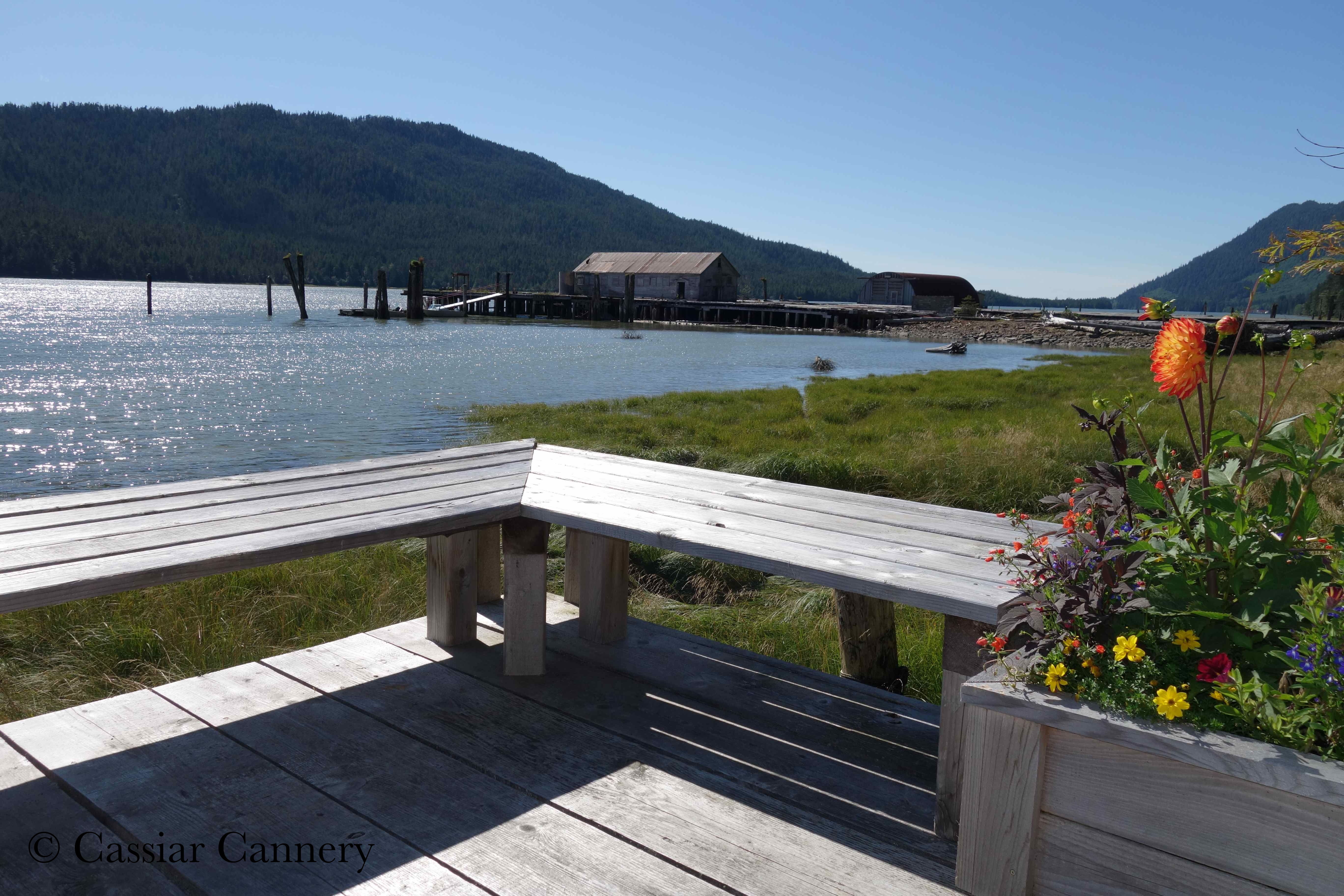 Cassiar Cannery - Sockeye House - view of the docks from the porch