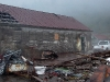 Cassiar Cannery - cleaning up the dock mess - fall 2006