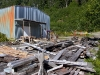 Cassiar Cannery - sorting and stacking Cassiar's vintage building materials