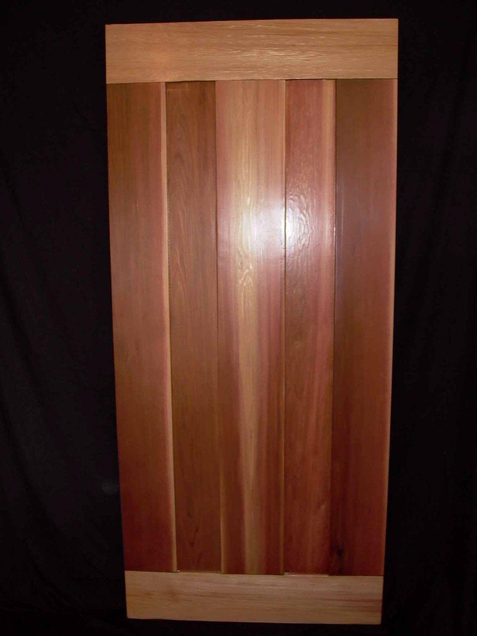 Cassiar Cannery - custom reclaimed cedar door