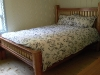 Cassiar Cannery - reclaimed red and yellow cedar queen bed with Cassiar's fir uprights